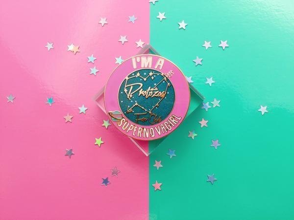 Zenon Protozoa Fan Club badge – The Lantern Girl Shop