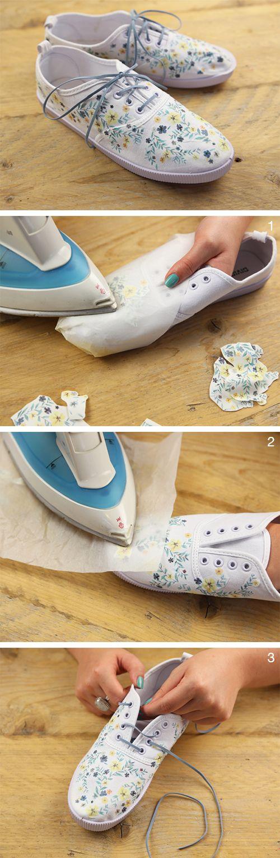 Decorare le tue vecchie sneakers a tinta unita è facile, e il risultato sorprendente!