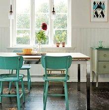 repeindre ses chaises de cuisine