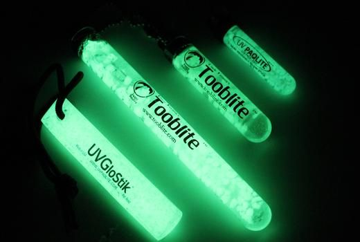 Our reusable glow sticks recharge from any light source, glow in the dark all night long, and are reusable forever. Consider them as a glow stick that never dies and you never throw away. Attach our reusable glow sticks to items you need to find in the dark such as: kids, keys, flashlights, backpacks, gear, fire starters, etc.