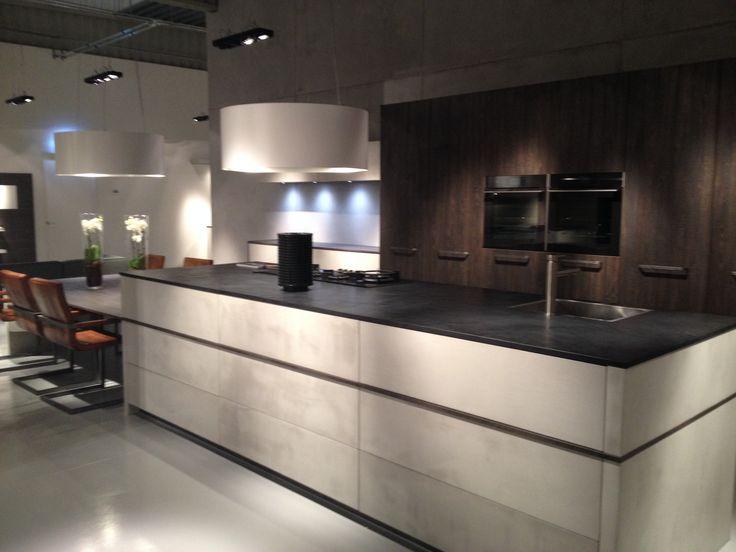 Geliefde 10 best Betonlook keuken images on Pinterest | Kitchens, Showroom  XZ44