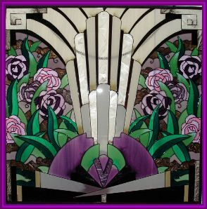 I love art deco era stained glass work, i'd have it in every room if I could!