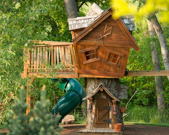 Design Your Own Garden Playhouses For Children: Spring Valley Eclectic Kids Playhouse In Center Of Childrens Garden ~ miaohuifac.com Garden Design Inspiration