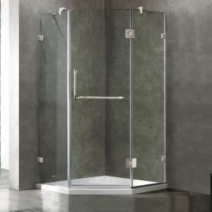Vigo Piedmont 40.25 in. x 76.75 in. Semi-Framed Neo-Angle Shower Door in Chrome with Clear Glass-VG6062CHCL40WS - The Home Depot