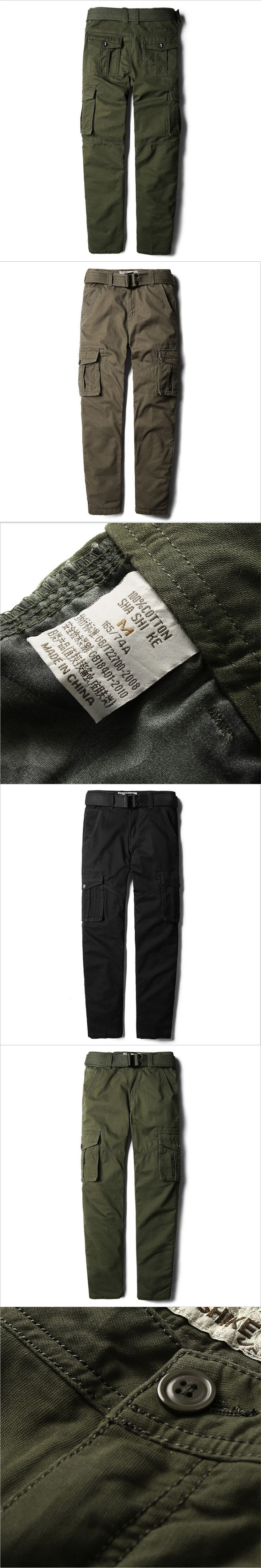Cargo Pants Men 4Xl Autumn Spring Casual Male Trousers Army Green Pants Cotton Men Spliced Pantalones A3160