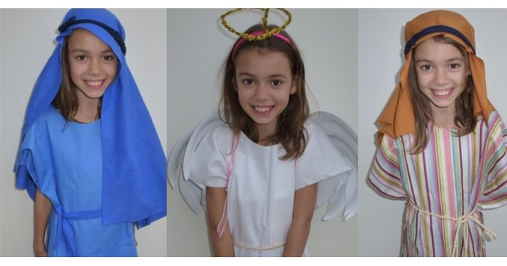 An easy no sew tabard that is perfect for nativity costumes - all the nativity costumes can be made from this easy tabard