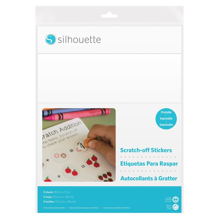 Silhouette Sticker Paper - Scratch-off Sticker - Printable