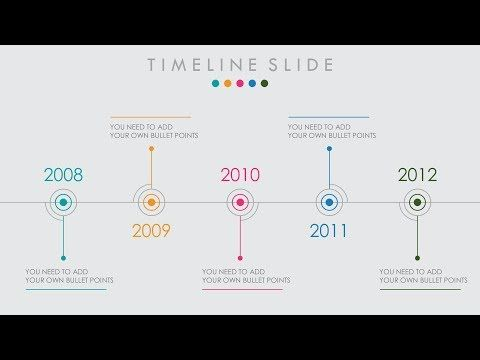 Animated PowerPoint Timeline Slide Design Tutorial - YouTube