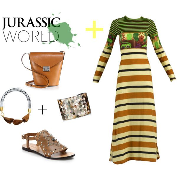 Jurassic World Look by alcalams on Polyvore featuring moda, Jean-Paul Gaultier, See by Chloé, Loeffler Randall, Nest, Marni and onboard