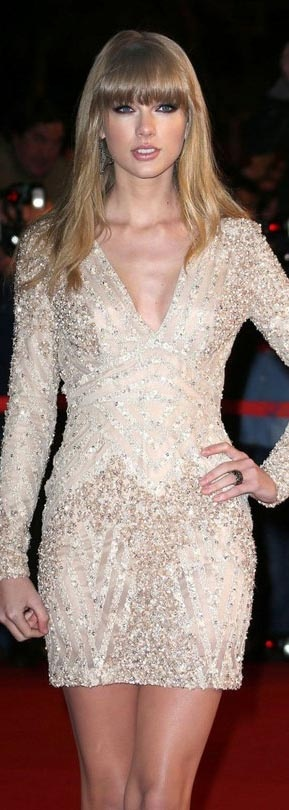 Taylor Swift attends the 2013 NRJ Music Awards held at the Palais des Festivals on the famous Croisette Avenue in Cannes on January 26, 2013.