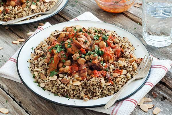 Post image for Gluten Free Chickpea Tagine with Quinoa and Harissa