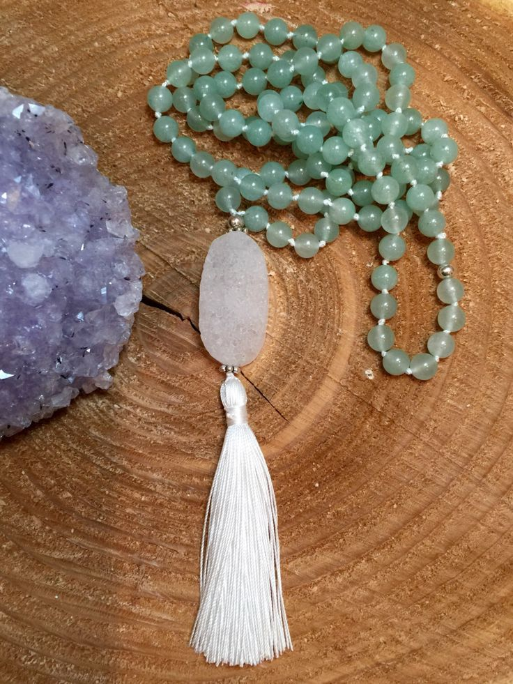 A personal favorite from my Etsy shop https://www.etsy.com/ca/listing/469131808/aventurine-mala-necklace