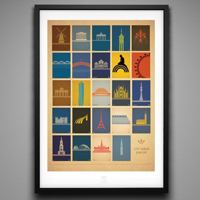 Adidas City Series prints by Marcus Reed Illustration