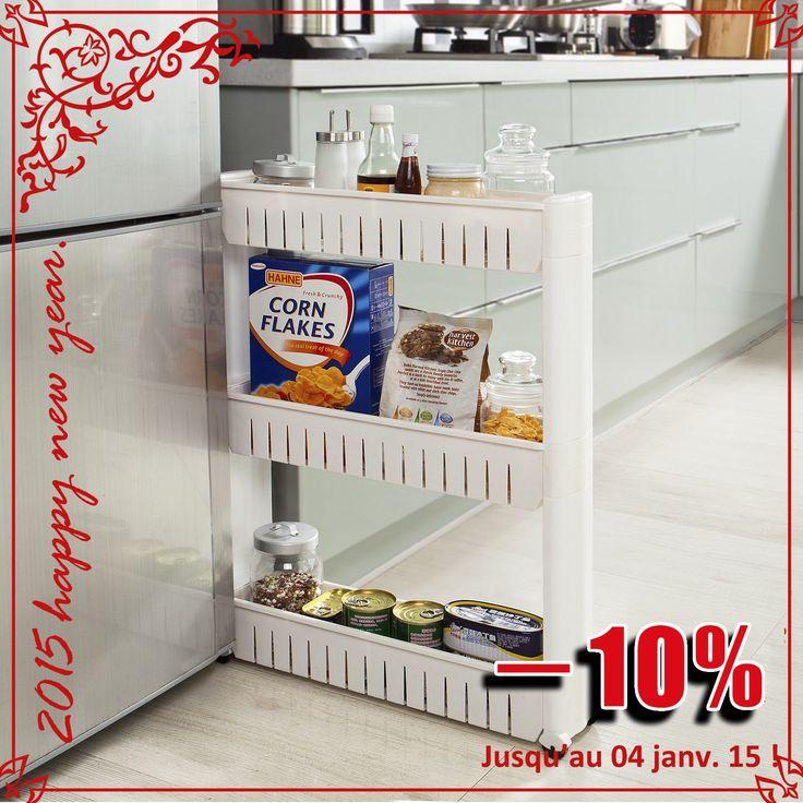 sobuy frg40 w tag re placard alc ve armoires de cuisine chariot pour rangement cuisine. Black Bedroom Furniture Sets. Home Design Ideas
