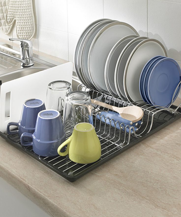 Dish Drying Rack Walmart Inspiration 34 Best Dish Drainer Images On Pinterest  Dish Drainers Dinnerware Design Ideas