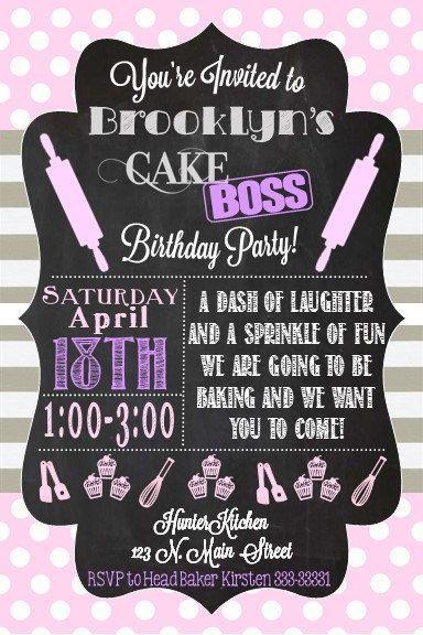Cake Boss Birthday Invite by LeeMadi on Etsy
