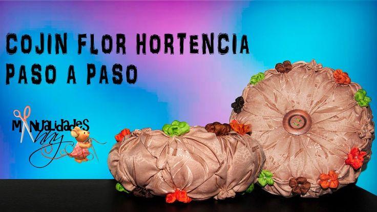 CLASE XI - COJIN FLOR HORTENCIA CAPITONE | Manualidades Anny