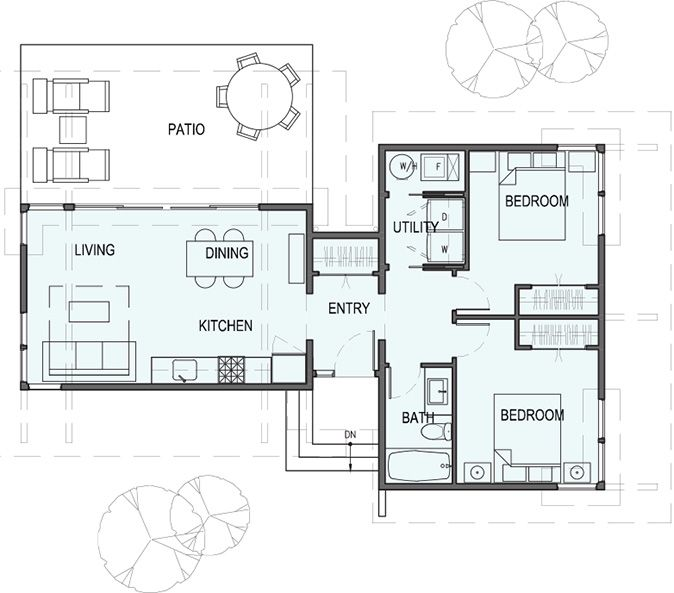 Garage House Plans With Apartments Garage W Apartments With  Bedrm 615 Sq Ft Plan