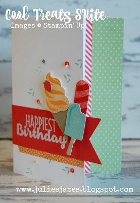 Julie Kettlewell - Stampin Up UK Independent Demonstrator - Order products 24/7: Cool Treats Suite