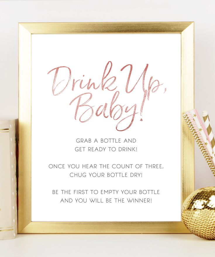 Bottle Chugging Baby Shower Game Bohemian Baby Shower