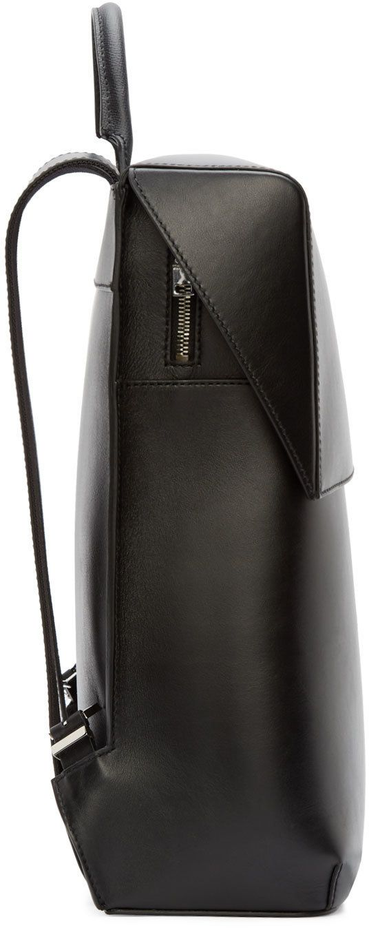 Balenciaga Black Leather Phileas Backpack