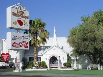 The Little White Chapel, Las Vegas!  Got married here in 1992