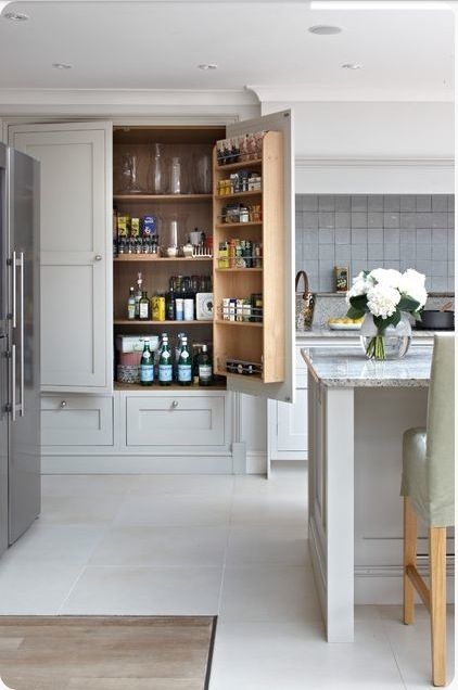 Skafferi, pantry, this kitchen has a great use of space.