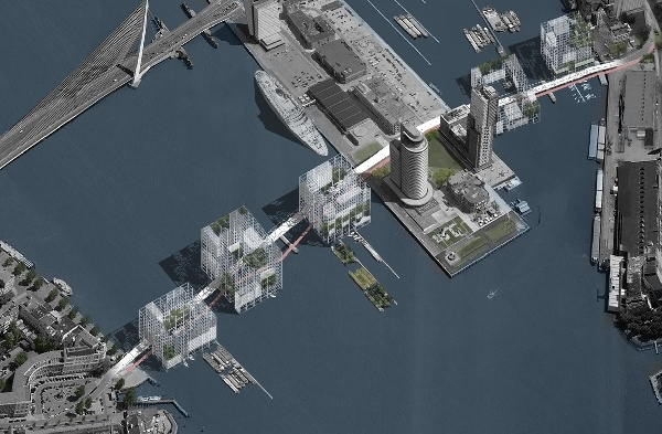 Link city  Rotterdam  by Ljubo Georgiev and Giulia Melloni  BNA young architects competition 2010