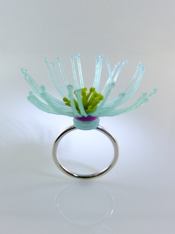 Pamela Ritchie.  2009, Ring, sterling, plastic.