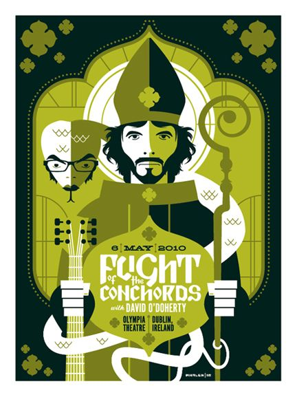 flight of the conchords poster by strongstuff.deviantart.com