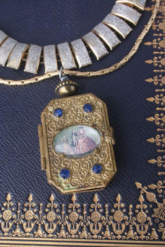 Vintage Locket Memory Box Locket Locket necklace Vintage