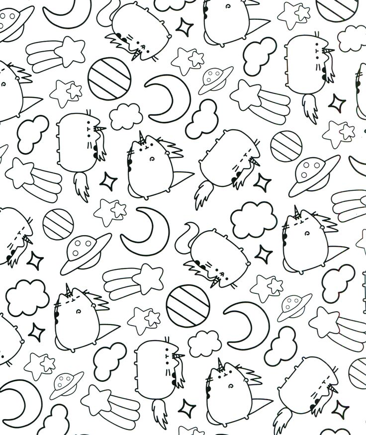 94 best Pusheen Coloring Book images on Pinterest ...