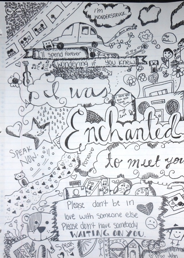 Taylor Swift Song Lyrics Drawings 40 best Thank you Tayl...