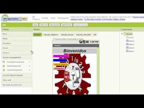 aplicación de app inventor de formulas de fisica - YouTube