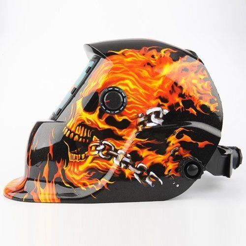 Amzdeal Masque de Soudure Automatique Casque Solaire Auto assombrissement Masque Soudeurs à l'arc crâne masque Casque de soudage DIN 9-13:…