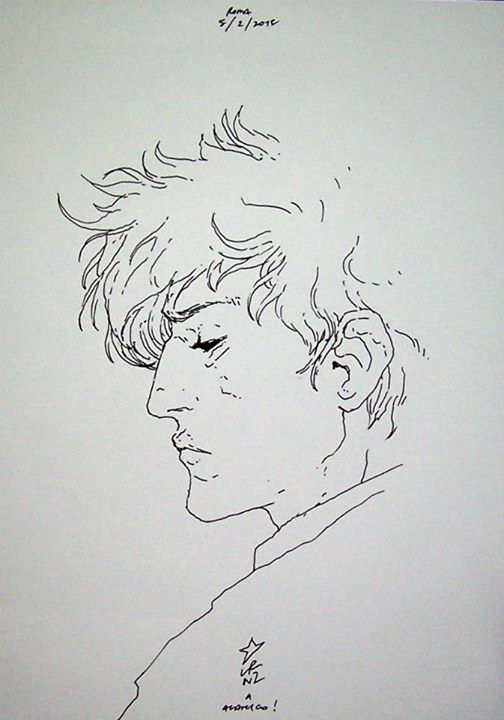 I capelli spettinati,gli occhi sporchi di malinconia, le labbra piene e morbide.Così Lorenzo Ceccotti, in arteLRNZ - http://c4comic.it/2015/02/07/lrnz-disegna-dylan-dog/