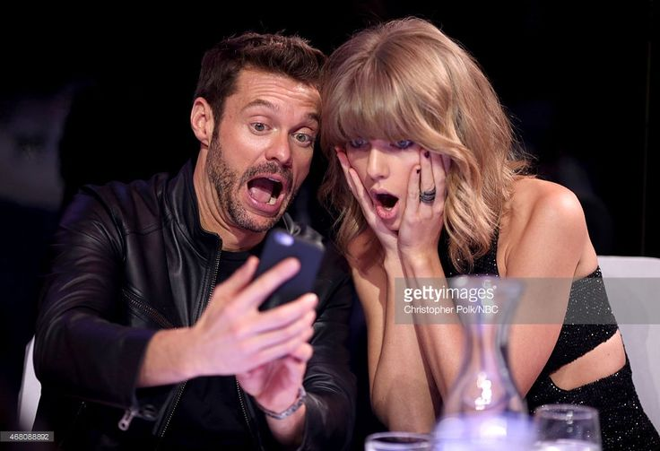 Ryan Seacrest and Taylor Swift pose at the iHeartRadio Music Awards (Photo by Christopher Polk) | #selfie #celebrity