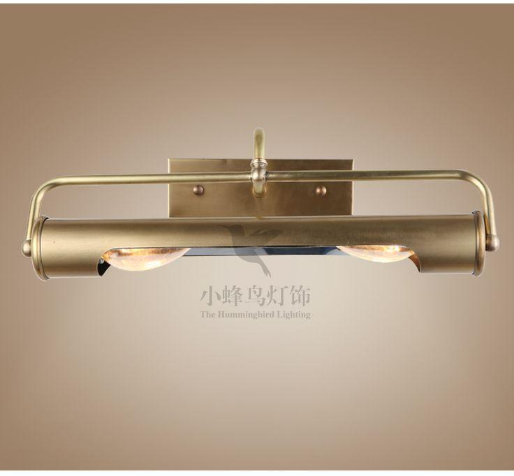 Американская страна полна меди ванной комнаты минималистский зеркало ванной передние фары светильника влагостойких макияжа тщеславия шкаф зеркало в ванной огни - Taobao