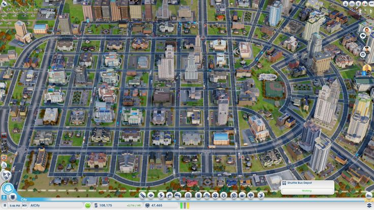 SimCity 2013 road system (arced roads)
