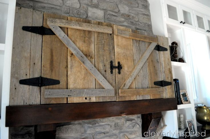 hide a tv above mantel @cleverlyinspired (4)