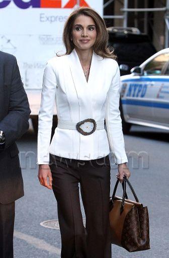 In New York - September 2013. Queen Rania of Jordan.