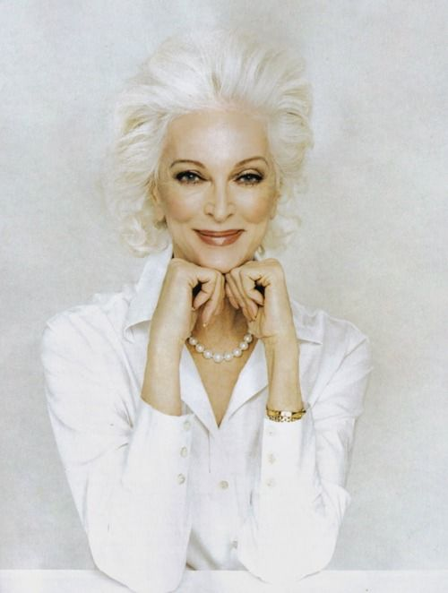 Carmen Dell'Orefice (born June 3, 1931) is 80 years old right now. She is the oldest model in the world modeling for the last 66 years, placing herself in the Guinness Book of World Records.
