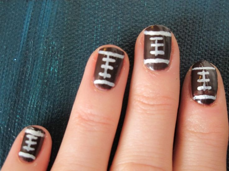 football designed nails