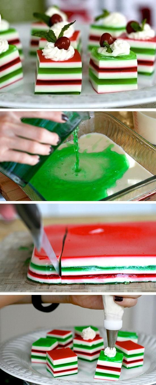 Holly Jolly Jelly Shots | Click for 26 Easy Christmas Party Food Ideas for Kids | Easy Holiday Treats for Kids to Make
