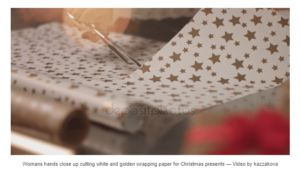 Free DepositePhotos File: Wrapping holiday presents (4K Resolution) – Stock footage