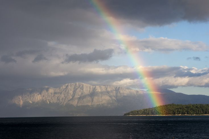 Lefkada island rainbow, Greece