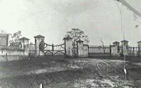 The convict built gates to Macquarie Field Estate in southwestern Sydney (year unknown).Macquarie Field House was constructed in the late 1830s or early 1840s. George Fairfowl Macarthur headmaster of St Mark's Collegiate School Darling Point moved his school and family to Macquarie Field House in 1858.The gateway was built in the late 1820s.