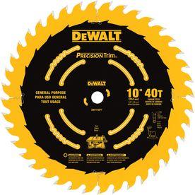 DEWALT DW7140PT Precision Trim 10-inch 40 Tooth Segmented Carbide Circular Saw Blade