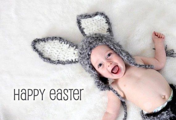 Sombrero del bebé conejo con orejas caídas por PreciousMomentsProps