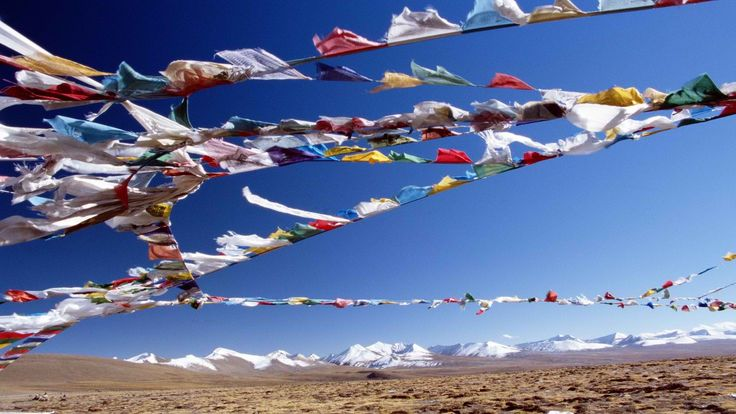 Tibetan prayer flags are more than just a piece of art. Their spiritual and cultural meaning is timeless and powerful. #tibettour #tibettravel #tibet #tibetan
